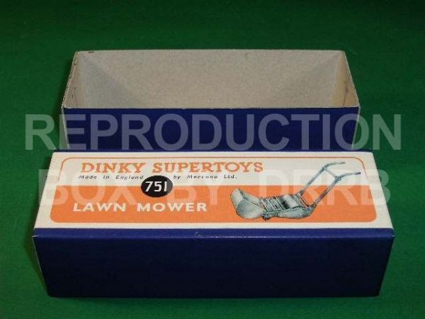 Dinky #386 (751) Lawn Mower - Reproduction Box